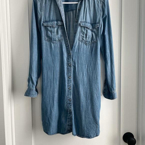 American Eagle Button Down Jean Dress